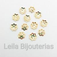 Tulipa Vazada 5mm Dourada Banho Importado 10 Gramas